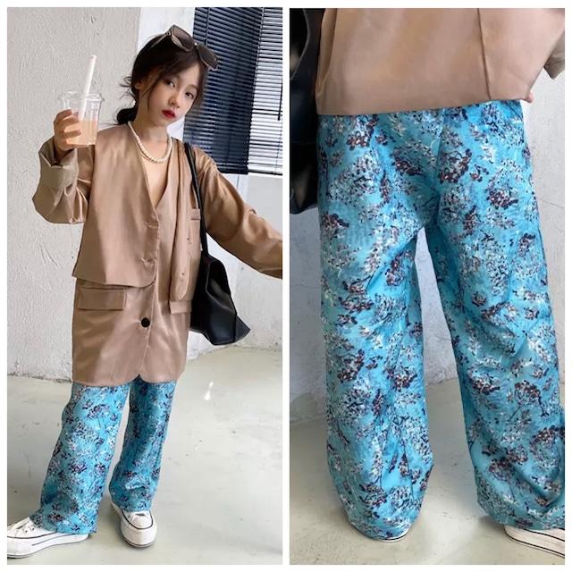120~170cm ★ ボトムス パンツ ゆったりシルエット 花柄