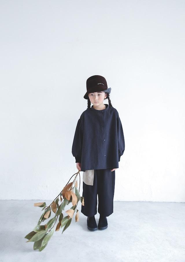 【21AW】ミチリコ(michirico) Stripe Shirts charcoal【S・M】シャツ