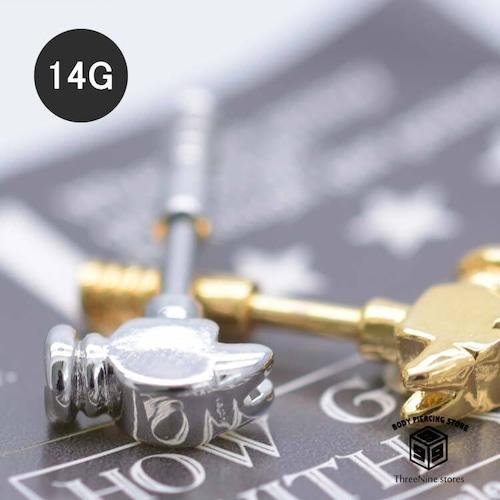 ボディピアス 14G ハンマー 個性的 軟骨ピアス 片耳 ロック TBP095
