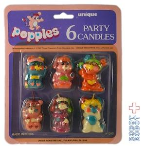 ポップルズのキャンドル / popples 6 PARTY CANDLE