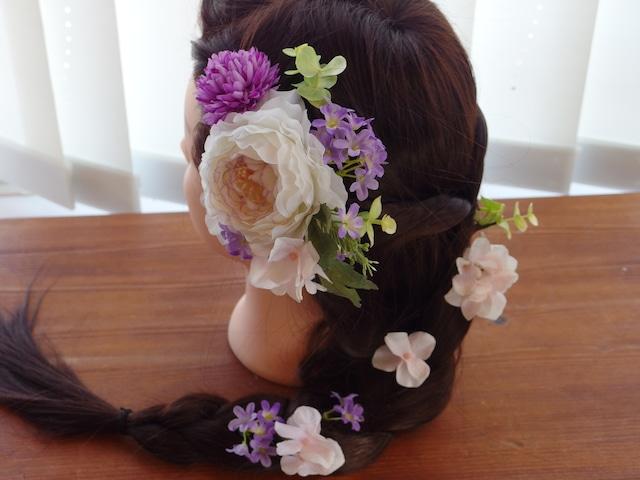 髪飾り♡和・洋どちらにも! 春を運ぶラナンキュラスのヘッドドレス