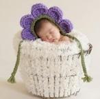 【即納】【ベビーコスプレ】 赤ちゃん 衣装 仮装 コスチューム【フラワーパープル】 S500
