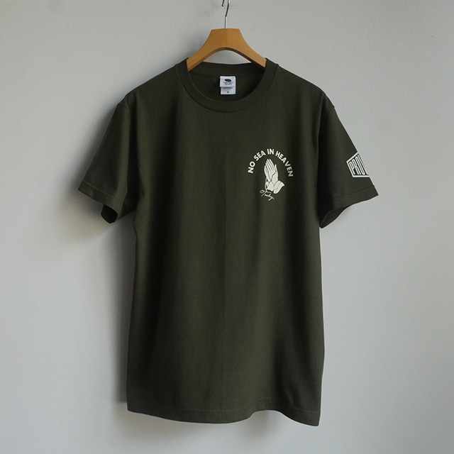 Tシャツ NO SEA IN HEAVEN アーミーグリーン