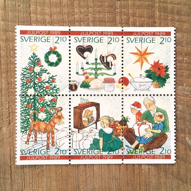 切手(未使用)「1989年版 クリスマス切手:ブロック - 6枚構成(1989)」