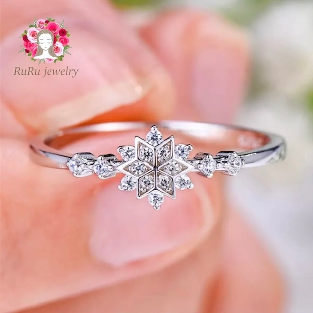 ice star ring / silver 925