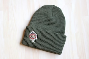 刺繍ニット帽『サボテン暮らし』