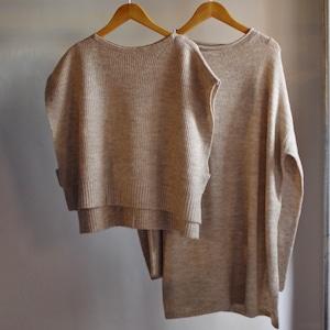 Select Item / Mix yarn Vest & Sweater Set / ベスト & セーター セット