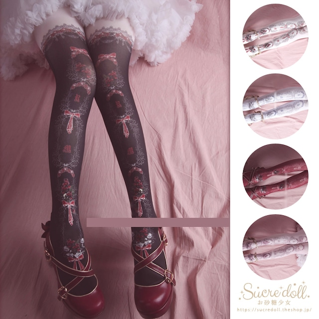 [5color] 薔薇少女のタイツ #su53