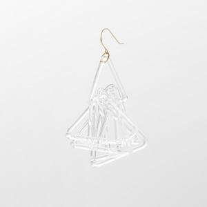 _cthruit シースルーイット triangle (short) earring ピアス 【Clear/Black】