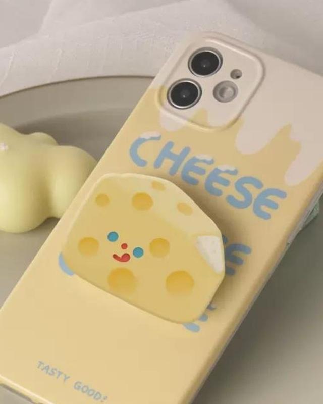cheese design phone grip