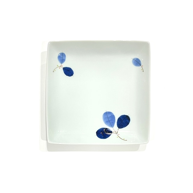 【SALE】葉紋 角皿《デッドストック》