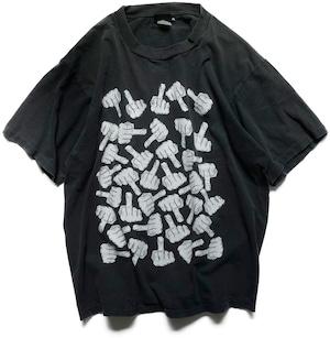 90年代 ファックサイン Tシャツ   アメリカ ヴィンテージ 古着