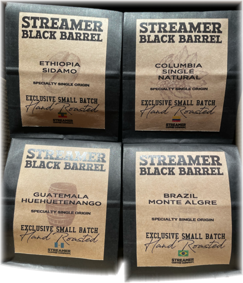 STREAMER BLACK BARREL - SPECIALTY SINGLE ORIGIN FOURSOME BOX