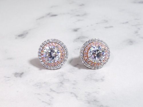 rose round stone pierce