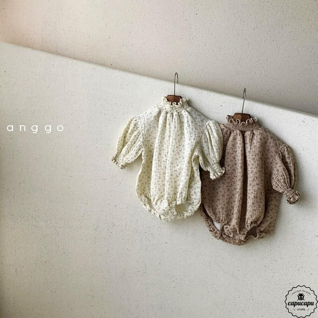 «sold out»«bebe» shirring baby suits 2colors シャーリングベビースーツ