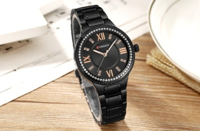 CURREN LT-C9004(black) レディース腕時計