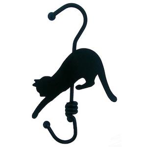 ロールフック ブラック 猫(E-2-002B)
