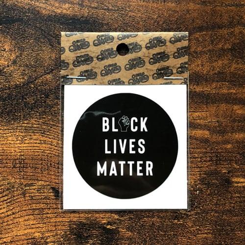 BLACK LIVES MATTERステッカー / ブラック   SINE METU