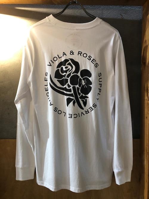 VIOLA&ROSES VR LONG T モノクロNO.01WT