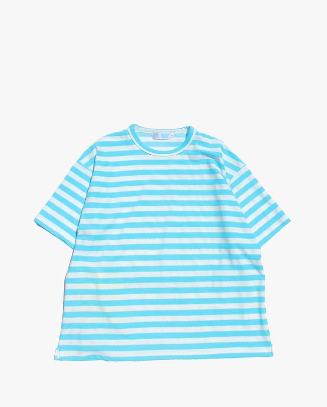 "EACHTIME. Pile T-Shirt ""Big""  WH/BU"