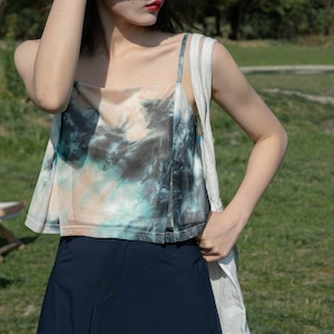 Tie dye strap camisole(タイダイストラップキャミソール)b-192