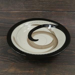 小石原焼 スープ皿 渦 トビカンナ 鶴見窯