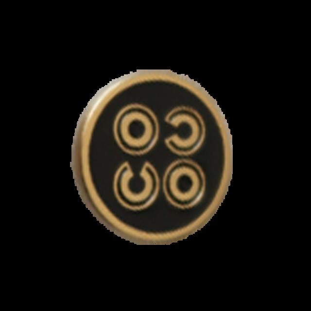 【VINTAGE CHANEL BUTTON】ブラックCOCOマークボタン 1.8cm C-21073