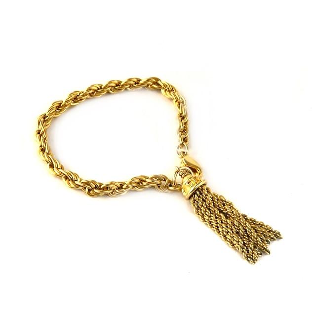 SONIA RYKIEL ソニアリキエル タッセル ブレスレット ゴールド vintage ヴィンテージ オールド Accessories mcpwdy