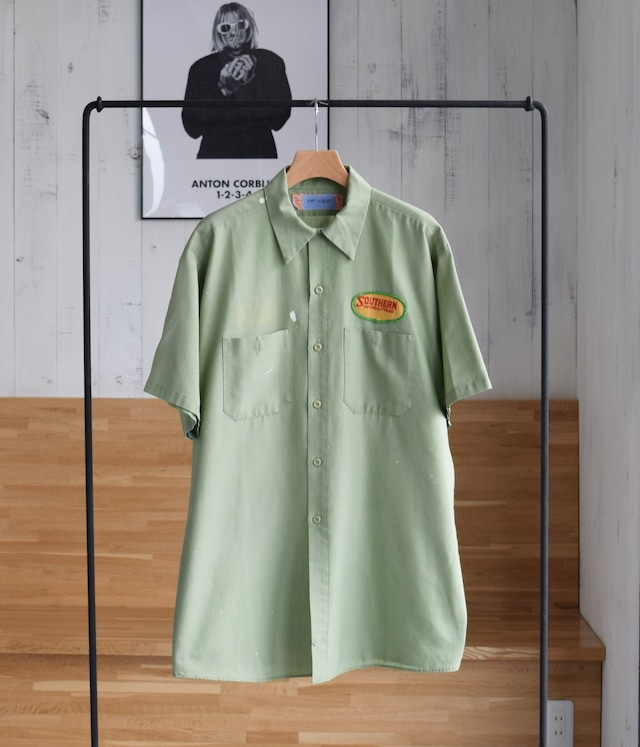 VINTAGE 60s - 70s WORK SHIRT -Made in USA-