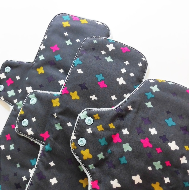 【S,M,Lお得セット】オーガニックコットン バンブー 一体型布ナプキン kokonapu