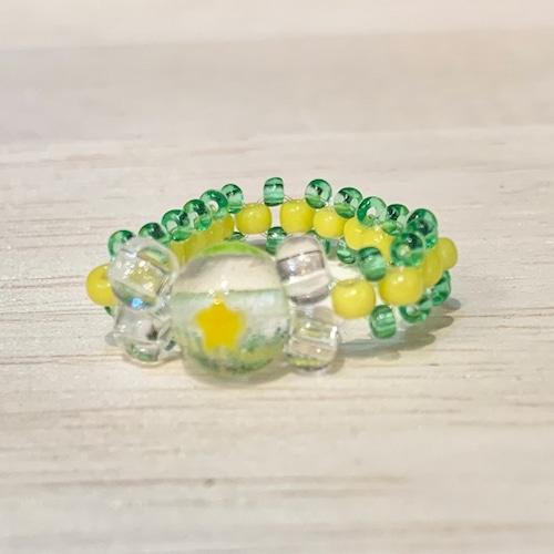 Item859 ヴェネチアンコンテリエのリング 透明レモン水