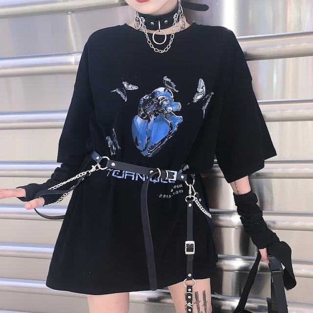 メタルハートTシャツ(全2色) / HWG263