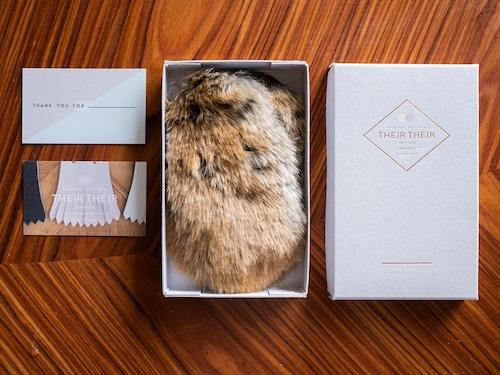 《10月16日正午〜予約販売》【fur_lapin】Shoes quilt(シューズファーキルト)