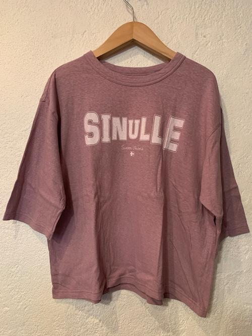 Chloro sister/toujours/再入荷 プリント5分袖Tシャツ グレージュピンク