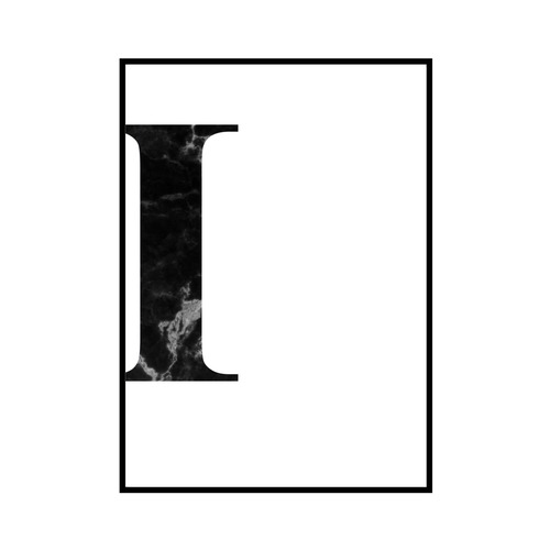"""I"" 黒大理石 - Black marble - ALPHAシリーズ [SD-000510] A3サイズ フレームセット"