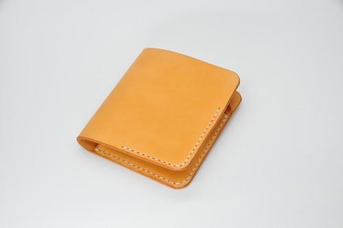 ヌメ革シンプルウォレット Bタイプ(カードポケット縦入れ)