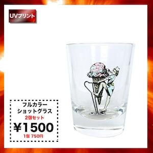 フルカラー  ショットグラス(2個セット)