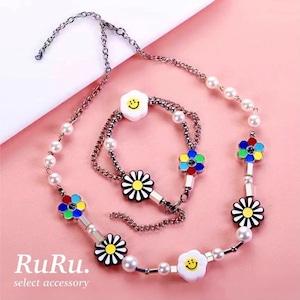 sunflower smile necklace / bracelet