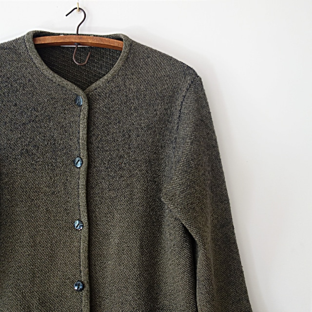 """【MADE IN FRANCE】RODIER マスタードニットポロシャツ """"PULL D'ETE"""""""