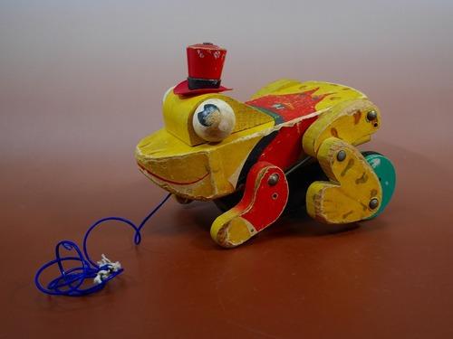 カエル 木のおもちゃ FISHER PRICE アメリカンビンテージ