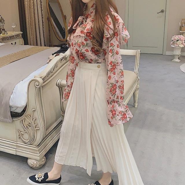【SSC atelier】trendy skirt (white)