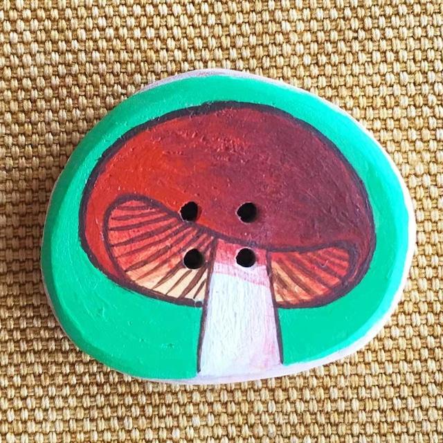 【富良野 森の贈り物】森のきのこの飾りボタン6