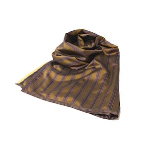 Enharmonic TAVERN Stripe Big Stole -beige <LSD-AH3AC6>
