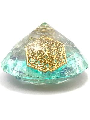 ダイヤモンド型オルゴナイト【ラピスラズリ&天然水晶】