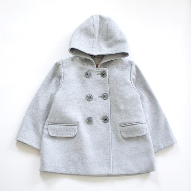 100%ピュアカシミヤ コート(グレー色) お子様用