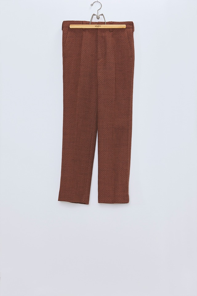 M A S U / FLARE TROUSERS (RED BROWN)