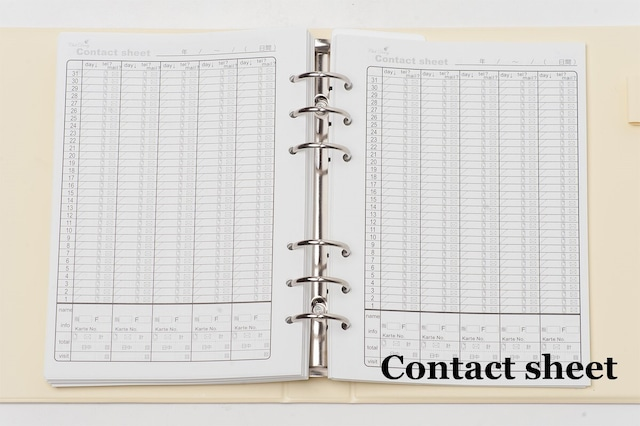 【Contact sheet(コンタクトシート)単品】Club Diary / キャバ嬢 ホステス手帳 クラブダイアリー