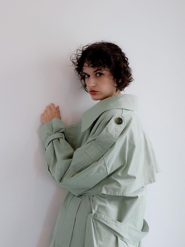 pleats trench coat(mint)
