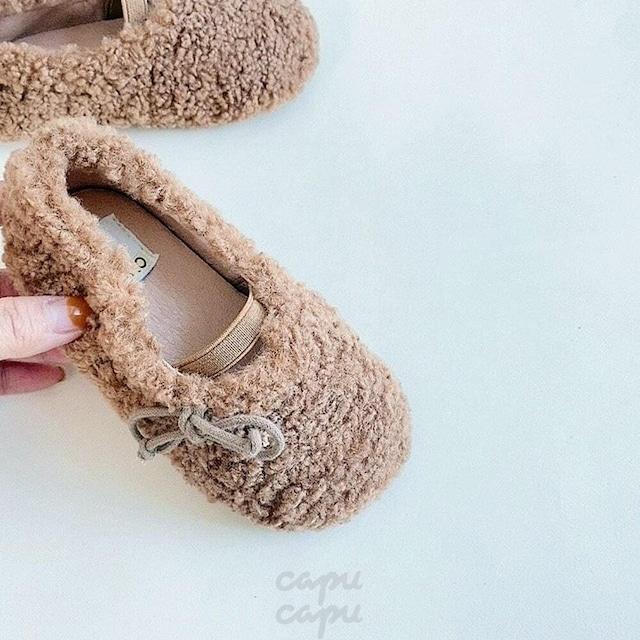 «予約» mokomoko shoes 2colors モコモコシューズ 子供靴 キッズシューズ