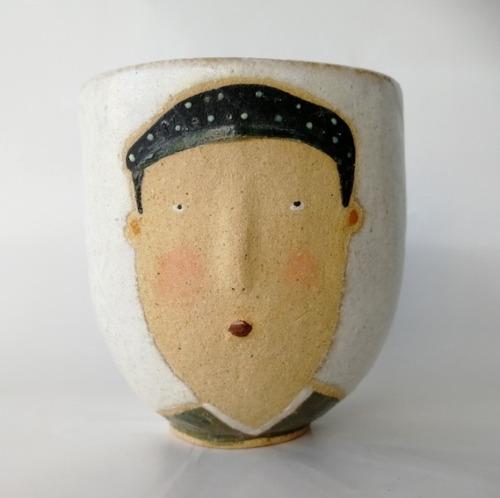 「Face cup 和装男」 馬岡智子